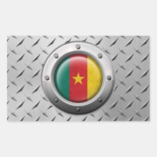 Bandera industrial del Camerún con el gráfico de Pegatina Rectangular