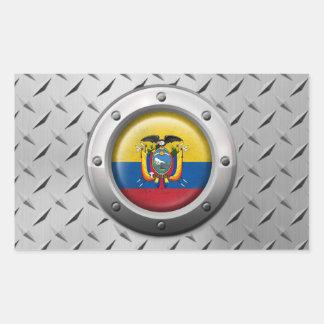 Bandera industrial del Ecuadorian con el gráfico Pegatina Rectangular