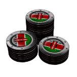 Bandera industrial del Kenyan con el gráfico de ac Fichas De Póquer
