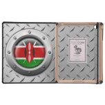 Bandera industrial del Kenyan con el gráfico de ac iPad Cárcasas
