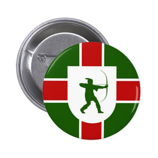 bandera Inglaterra Robin Hood de la región de Nott Pin