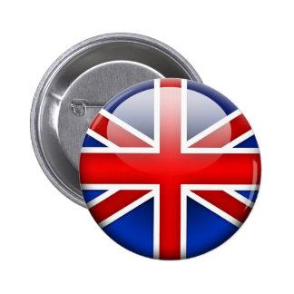 Bandera inglesa 2,0 pin redondo de 2 pulgadas