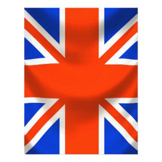 "bandera inglesa cuadrada folleto 8.5"" x 11"""