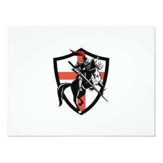 Bandera inglesa de Inglaterra del caballo de Invitación 16,5 X 22,2 Cm