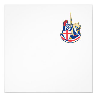 Bandera inglesa de Inglaterra del caballo de monta Comunicado Personal