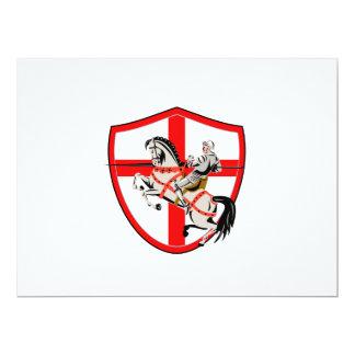 Bandera inglesa de Inglaterra del caballo del Invitación 16,5 X 22,2 Cm