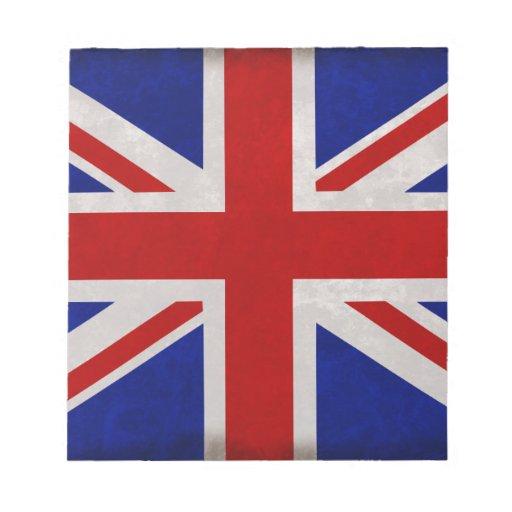 Bandera Inglesa de Inglaterra urdida Bloc De Notas