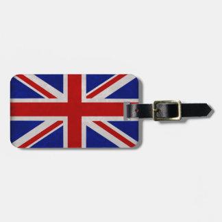 Bandera Inglesa de Inglaterra urdida Etiquetas De Equipaje