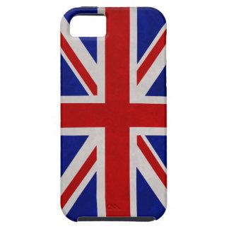 Bandera Inglesa de Inglaterra urdida iPhone 5 Case-Mate Fundas