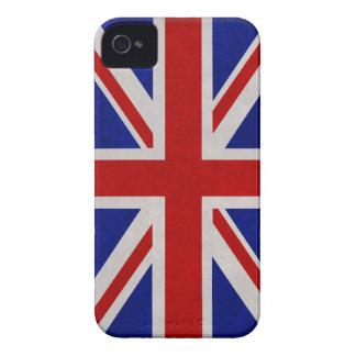 Bandera Inglesa de Inglaterra urdida iPhone 4 Case-Mate Protector