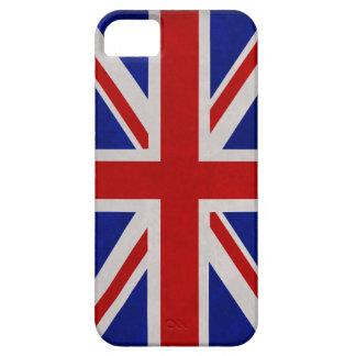 Bandera Inglesa de Inglaterra urdida iPhone 5 Case-Mate Coberturas