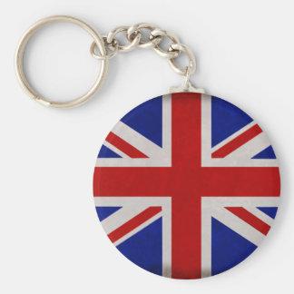Bandera Inglesa de Inglaterra urdida Llavero Redondo Tipo Pin