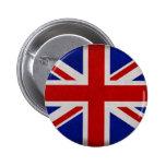 Bandera Inglesa de Inglaterra urdida Pin Redondo De 2 Pulgadas