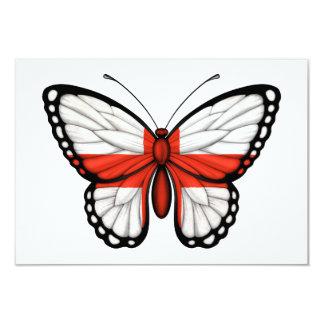 """Bandera inglesa de la mariposa invitación 3.5"""" x 5"""""""