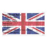 Bandera inglesa de madera tarjeta de visita