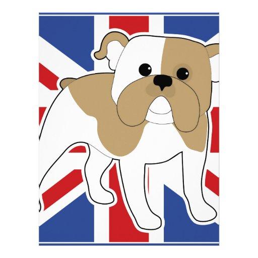 Bandera inglesa del dogo membrete a diseño