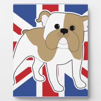 Bandera inglesa del dogo placas para mostrar