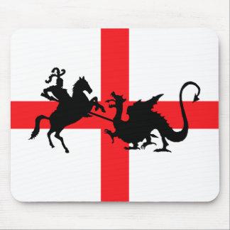 Bandera inglesa George y el dragón Tapetes De Raton