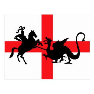 Bandera inglesa George y el dragón Postales
