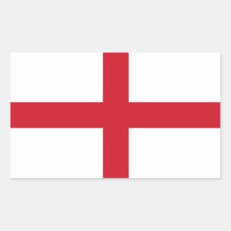 Bandera inglesa pegatina rectangular