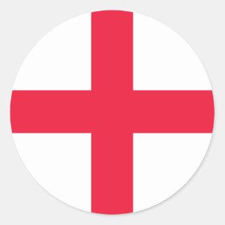 Bandera inglesa pegatinas redondas