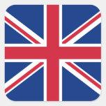 Bandera inglesa pegatina cuadrada