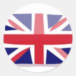 Bandera inglesa pegatina redonda