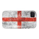 Bandera inglesa rascada y llevada vibe iPhone 4 carcasa