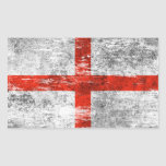Bandera inglesa rascada y llevada rectangular altavoz