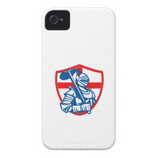 Bandera inglesa Retr del escudo de Inglaterra de l Case-Mate iPhone 4 Cárcasa
