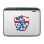 Bandera inglesa Retr del escudo de Inglaterra de l Fundas MacBook
