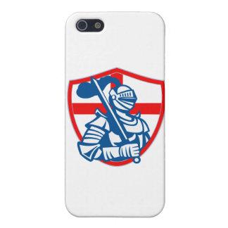 Bandera inglesa Retr del escudo de Inglaterra de l iPhone 5 Funda