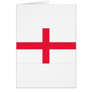 Bandera inglesa tarjeta de felicitación