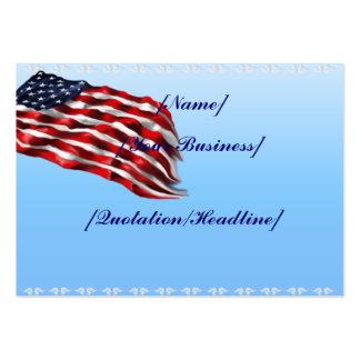 Bandera intrépida profilecard_chubby_horizontal, tarjetas de visita grandes