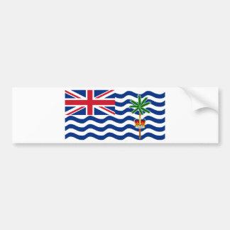 Bandera IO del territorio del Océano Índico Pegatina Para Auto