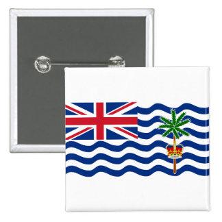 Bandera IO del territorio del Océano Índico Pin Cuadrado