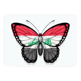 """Bandera iraquí de la mariposa invitación 5"""" x 7"""""""