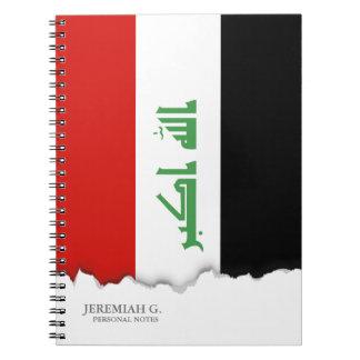 Bandera iraquí spiral notebook