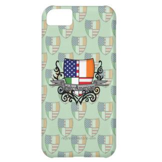 Bandera Irlandés-Americana del escudo Funda Para iPhone 5C