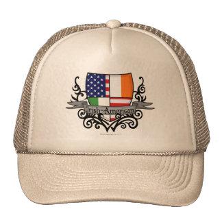Bandera Irlandés-Americana del escudo Gorro De Camionero