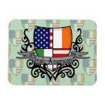 Bandera Irlandés-Americana del escudo Imán Rectangular