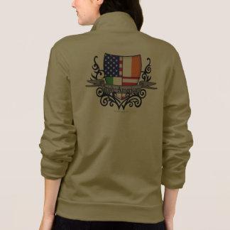 Bandera Irlandés-Americana del escudo Chaquetas Imprimidas
