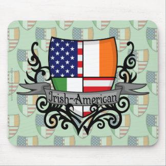 Bandera Irlandés-Americana del escudo Tapete De Raton