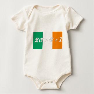 Bandera irlandesa 26+6=2 mameluco de bebé