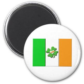 Bandera irlandesa afortunada imán redondo 5 cm