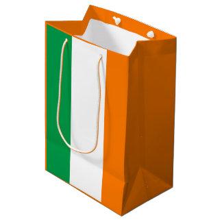 Bandera irlandesa bolsa de regalo mediana