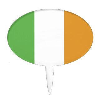 Bandera irlandesa con el trébol decoración de tarta