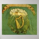 Bandera irlandesa de la brigada impresiones
