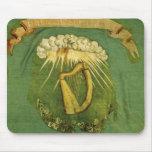 Bandera irlandesa de la brigada tapetes de raton