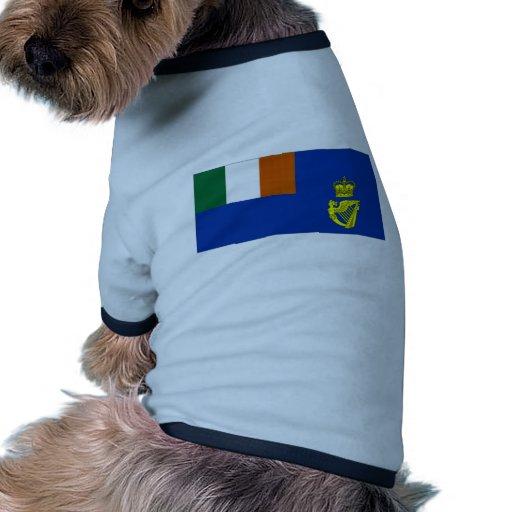 Bandera irlandesa de la navegación camiseta con mangas para perro